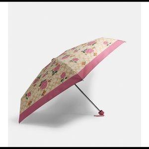 Coach prairie rose print umbrella